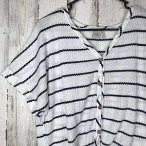 Anthropologie Tops - Anthropologie | Paper Crane Stripped Tee Large